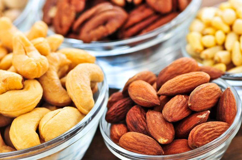 Peacan, Walnut, Almond, Cashew nut, Macadamia