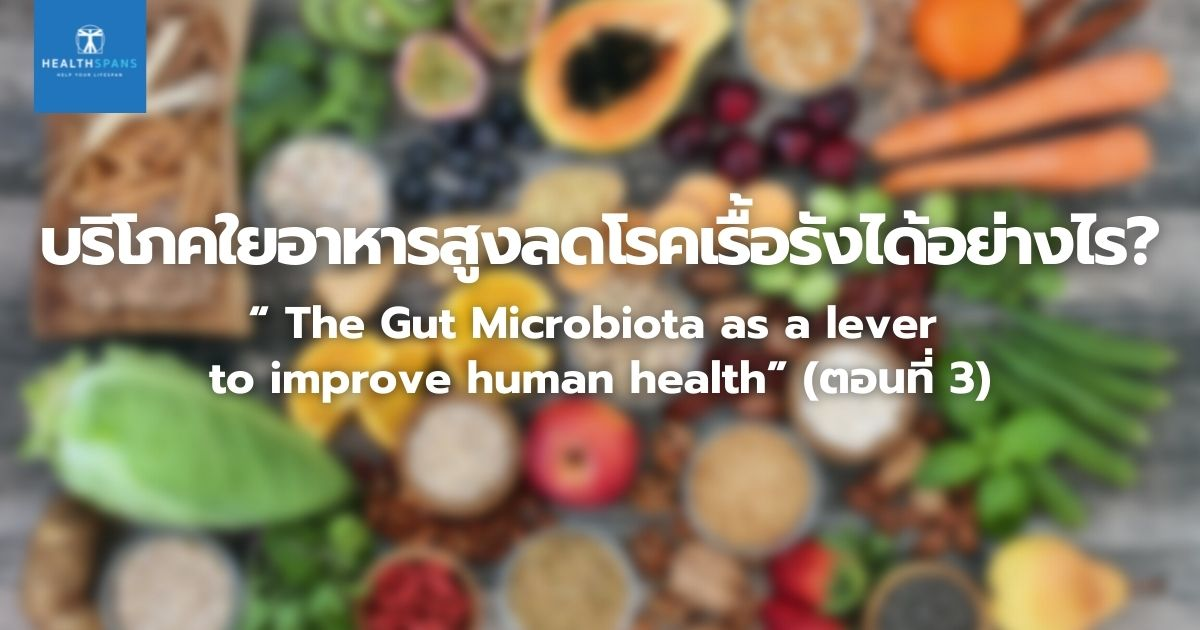 """"""" The Gut Microbiota as a lever to improve human health"""" (ตอนที่ 3)"""